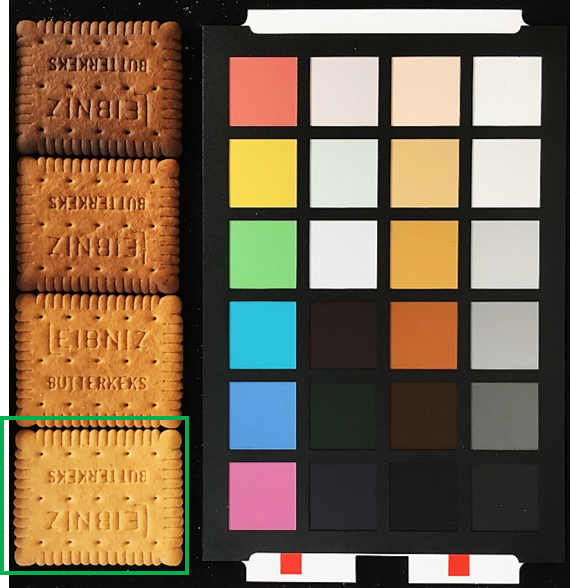browning of biscuits - true colour measurment - training set