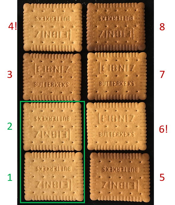 browning of biscuits - true colour measurment validation set