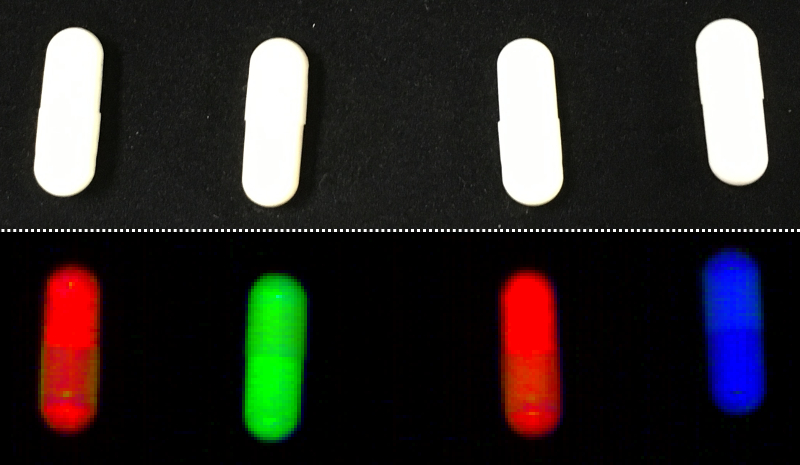 Chemical Colour Imaging and hyperspectral camera to detect faulty fillings of capsules