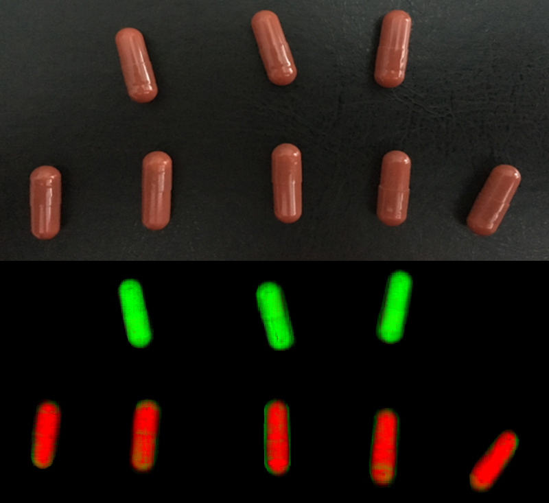 Chemical Colour Imaging and hyperspectral camera to detect empty capsules in pharmaceutical process