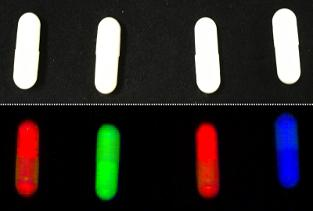 Chemical Colour Imaging to detect wrong fillings in capsules and coating cracks on pills